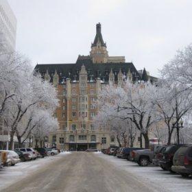 Winter season in Saskatoon Saskatchewan